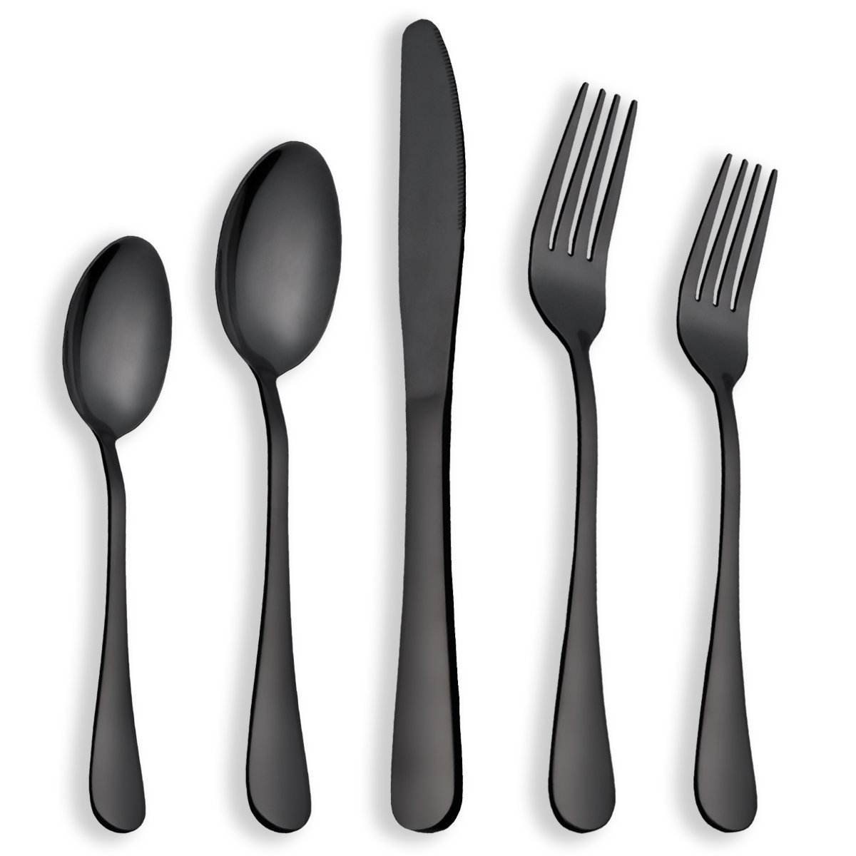 Berglander Flatware Set Black Gold